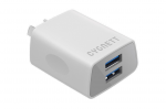 Cygnett Flow+ 2.4 Amp Dual USB Wall Charger - White