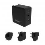 Cygnett Flow+ 3A 45W USB-C & 12W USB-A Universal Wall Charger with Power Delivery and Travel Adapters - Black
