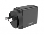 Cygnett PowerPlus 2.4A 12W USB-A Universal Wall Charger with 1.5m Lightning to USB-A Cable - Black