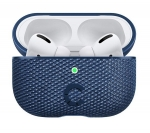 Cygnett Tekview Pod Protective Case with Wireless Charging for Apple AirPods Pro - Navy Blue