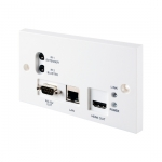 CYP HDBT HDMI Receiver Wall Plate 5Play HDMI, POE, (IR & RS323) & LAN Inputs
