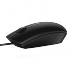 Dell MS116 Wired USB Optical Scroll Wheel Mouse - Black