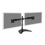 Digitus Horizontal Rail Dual Monitor Desk Stand for up to 27 Inch Flat Panel TVs or Monitors - Up to 16kg