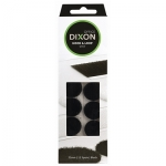 Dixon Hook & Loop 22mm Black Spots - 12 Pack