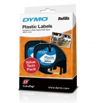 Dymo 12mm Genuine LetraTag Plastic Tape Labels White - 2 Pack