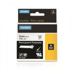 Dymo 24mm Rhino Industrial Permanent Polyester Labels - Black on White