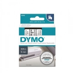 DYMO D1 9mm Black on Clear Standard Label Tape Cassette