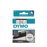 DYMO D1 9mm Black on White Standard Label Tape Cassette