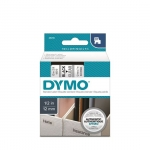 DYMO D1 12mm Black on Clear Standard Label Tape Cassette