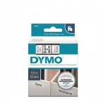 DYMO D1 12mm Black on White Standard Label Tape Cassette
