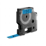 DYMO D1 12mm Black on Blue Standard Label Tape Cassette