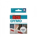 DYMO D1 12mm Black on Red Standard Label Tape Cassette
