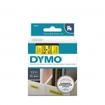 DYMO D1 12mm Black on Yellow Standard Label Tape Cassette