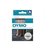 DYMO D1 12mm White on Clear Standard Label Tape Cassette
