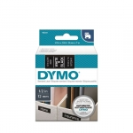 DYMO D1 12mm White on Black Standard Label Tape Cassette