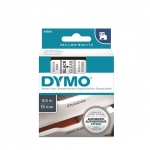 DYMO D1 19mm Black on Clear Standard Label Tape Cassette