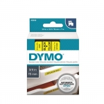 DYMO D1 19mm Black on Yellow Standard Label Tape Cassette