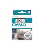 DYMO D1 24mm Black on Clear Standard Label Tape Cassette