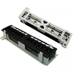 Dynamix 12-Port Mini Patch Panel - Supports Cat6 T568A & T568B