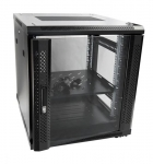 Dynamix SR Series 12RU 700mm Deep Black Server Cabinet - 600x700x655mm