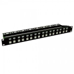 Dynamix 1RU 16 Port Cat5e/6 Unloaded Rack Mount Patch Panel