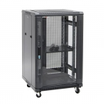 Dynamix SR Series 18RU 700mm Deep Black Server Cabinet - 600x700x988mm
