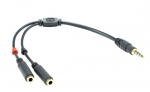 Dynamix 20cm Stereo 3.5mm Mic & Headphone Y Cable - For MAC and iPhone
