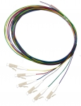 Dynamix 2M LC Pigtail OM4 Colour Coded Cables - 6 Pack