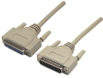 Dynamix 2M Null Modem Cable DB25 Male to Female
