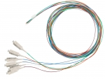 Dynamix 2M SC Pigtail OM4 Colour Coded Cables - 6 Pack