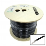 Dynamix 305m Black RG-6 18AWG Shielded Cable Roll - Supplied on a Reel
