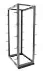 Dynamix 22U 4Post Depth Adjustable Open Frame Rack - Depth 559 to 1023mm
