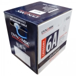 Dynamix 305m Blue Cat6A S/FTP Solid Cable Roll - Supplied on Plastic Reel Box