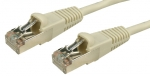 DYNAMIX 2M Cat6 Beige STP Patch Lead (T568A Specification) Slimline Snagless Molding Cable