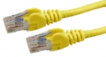 DYNAMIX 0.3M Cat 6 Yellow UTP Patch Lead (T568A Specification) 550MHz Slimline Snagless Molding Cable