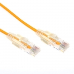 Dynamix 0.5M Cat6 Yellow Slimline Component Level UTP Patch Lead ** Not Compatible with HDBaseT Connectivity**