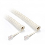 Dynamix Curly Handset Cord 4 Wire RJ22 to RJ22 Cable - Ivory