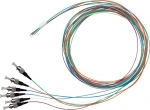 Dynamix 2 Meter ST Pigtail OS1 6 Pack Colour Coded, 900um Single mode Fibre, Tight buffer