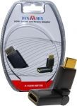 DYNAMIX HDMI Male to Female adapter incorporating a Swivel & Rotate feature