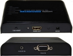 Dynamix VGA + Audio to HDMI Scaler - Upscales VGA to HDMI 720P or 1080P