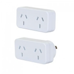 Dynamix Horizontal Double Power Plug Twin Pack (1 x Left Hand, 1 x Right Hand)
