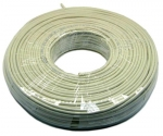 Dynamix Ivory Colour STRANDED 100M Coil, Enhanced Cat 5E UTP Cable 350MHz, 24 AWG
