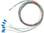 Dynamix 2M LC Pigtail OS1 6 Pack Colour Coded, 900um Single mode Fibre, Tight buffer