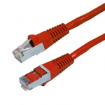 Dynamix 1M Cat6A Red STP 10G (Cat6 Augmented) 750MHz Slimline Molding Cable