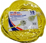 DYNAMIX 15M Heavy Duty Power Extension Lead. Supplied in Retail Packaging