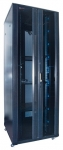 Dynamix 45RU Server Cabinet 800mm Deep (800x800x2100mm) - 2x100mm Front vertical management Panels - Flat Pack.
