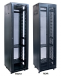 Dynamix 42RU, 600mm Deep Front Glass Door, Rear Mesh Double Doors Server Cabinet