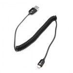 Dynamix 40cm-1.3m USB 2.0 Micro-B Male to Type A Male Curly Cable