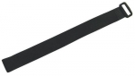Dynamix Hook & Loop Black 300mm x 20mm Cable Ties - 10 Pack