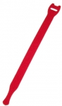 Dynamix Hook & Loop Red 200mm x 13mm Cable Ties - 10 Pack